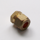 Brass Compression 8mm Microbore Stop End Cap - 24370800